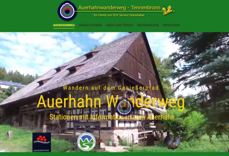 Auerhahn Wanderweg