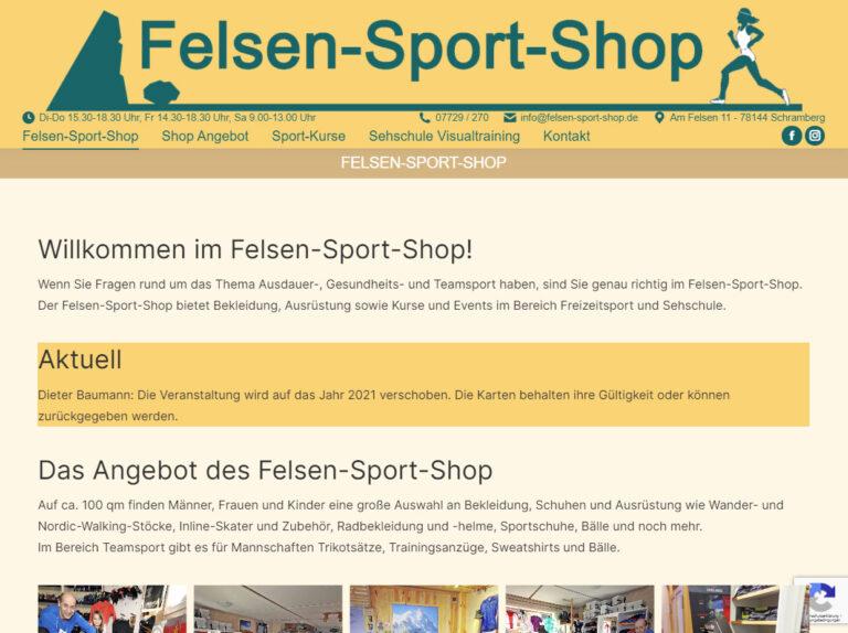 Felsen-Sport-Shop