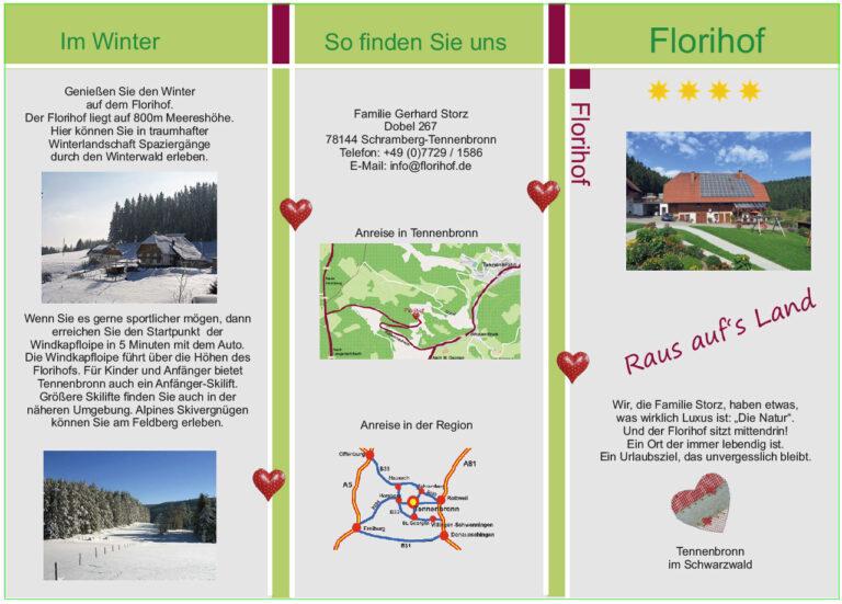 Flyer Florihof 6seitig Din Lang
