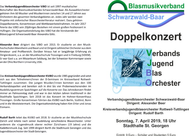 Flyer Verband Programm Konzert 4Seitig A5