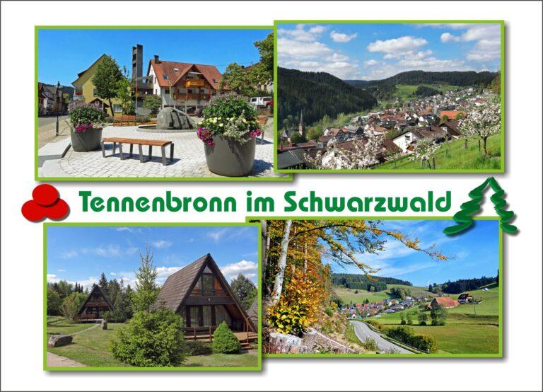 Postkarte Tennenbronn Weiss