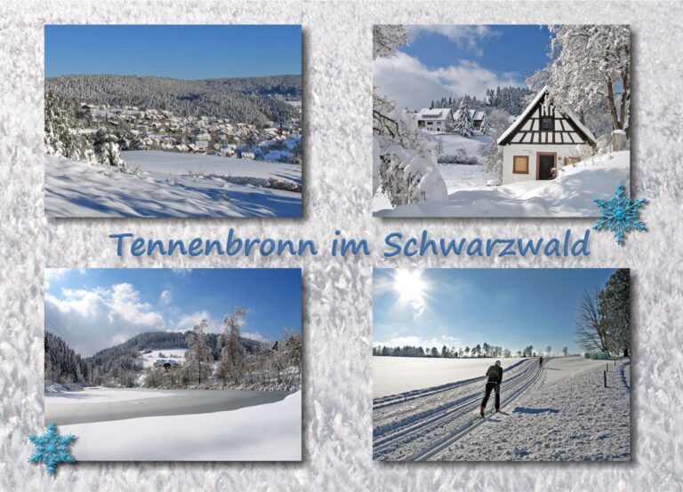 Postkarte Tennenbronn Winter Kristall