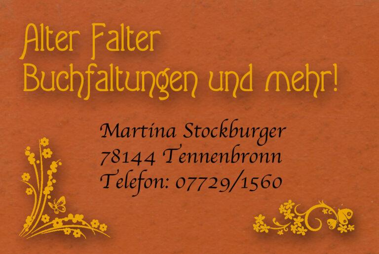 Visitenkarte Falter