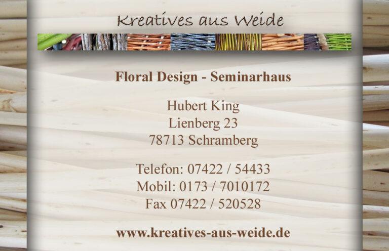 Visitenkarte Kreatives aus Weide