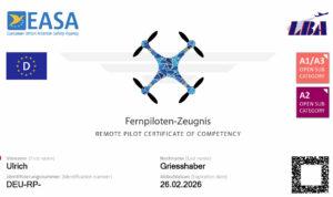 Fernpiloten Zeugnis A2